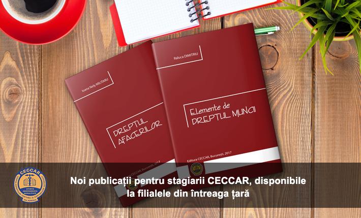 Noi publicații pentru stagiarii CECCAR
