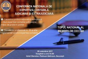 Conferința națională de expertiză contabilă judiciară și extrajudiciară și Topul național al membrilor CECCAR