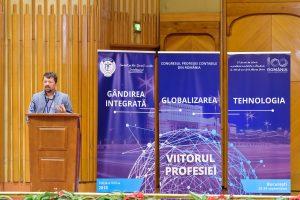 """Eugen-Dragoș Doroș, prim-vicepreședinte al Camerei Consultanților Fiscali, în deschiderea lucrărilor, despre tema Congresului, """"Gândirea integrată, globalizarea și tehnologia - viitorul profesiei"""""""