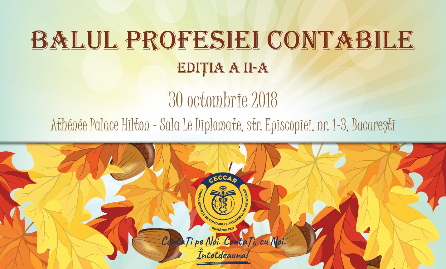 Balul profesiei contabile, ediția a II-a, 30 octombrie 2018