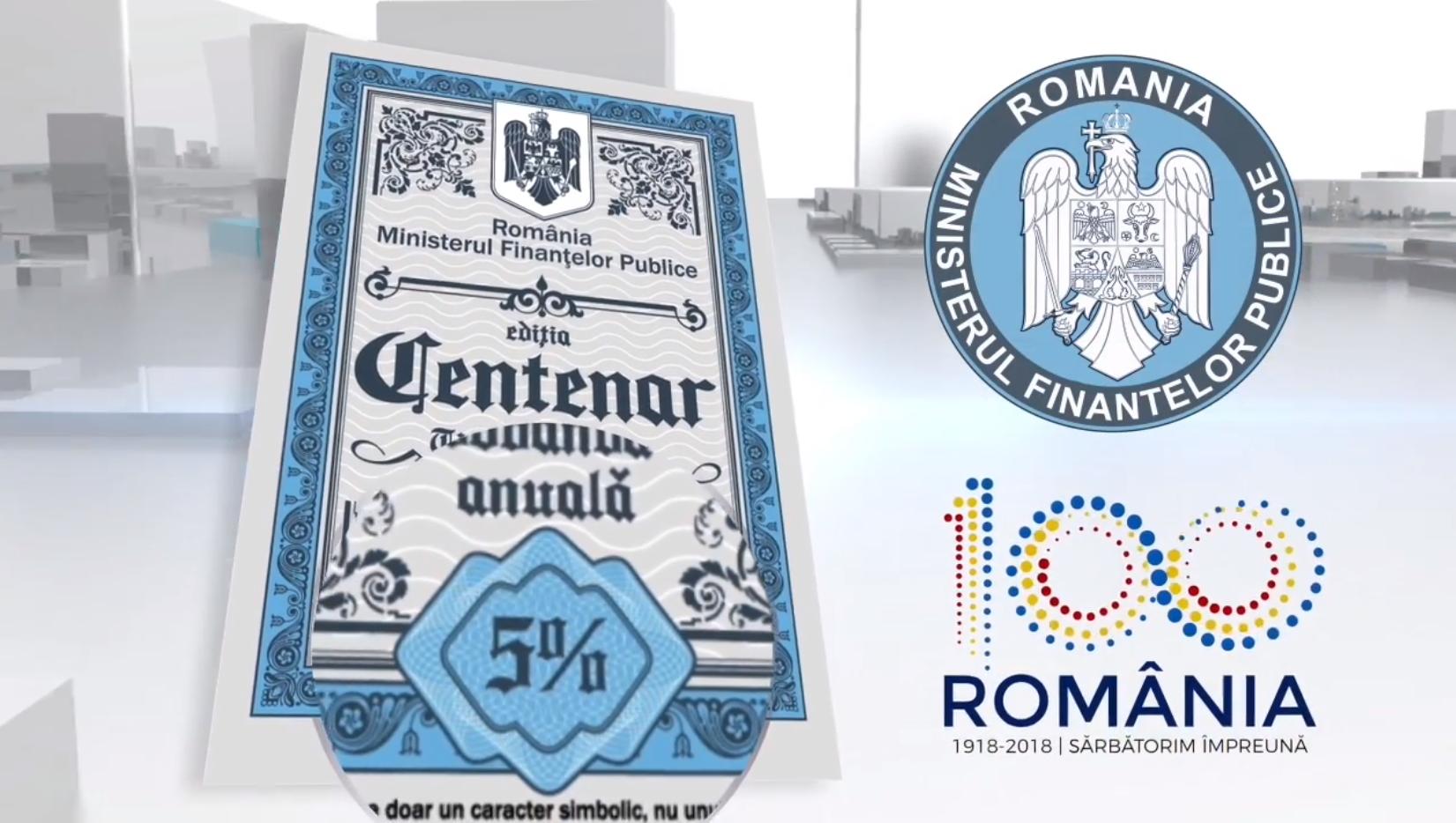 MFP: Persoanele fizice pot cumpăra titluri de stat CENTENAR cu dobândă de 4,5% și scadență la 2 ani