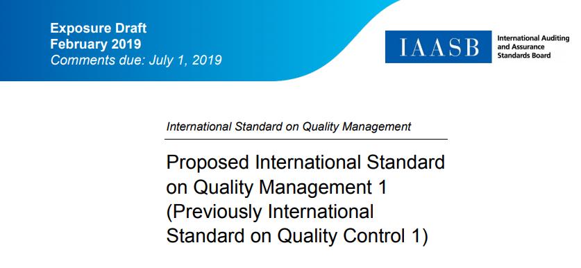 Proiect de expunere - Standardul Internaţional de Control al Calităţii (ISQC) 1, Controlul calităţii pentru firmele care efectuează audituri şi revizuiri ale situaţiilor financiare, precum şi alte misiuni de certificare şi servicii conexe