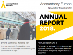Buletinul de știri Accountancy Europe – martie 2019