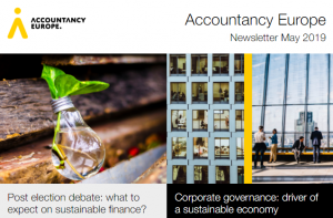 Buletinul de știri Accountancy Europe – mai 2019