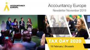 Buletinul de știri Accountancy Europe – noiembrie 2019