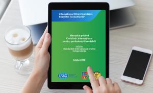 """""""Codul etic internațional pentru profesioniștii contabili"""", emis de IESBA, tradus în limba română de CECCAR"""