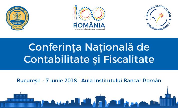Conferința Națională de Contabilitate și Fiscalitate – 7 iunie