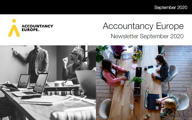 Buletinul de știri Accountancy Europe – octombrie 2020