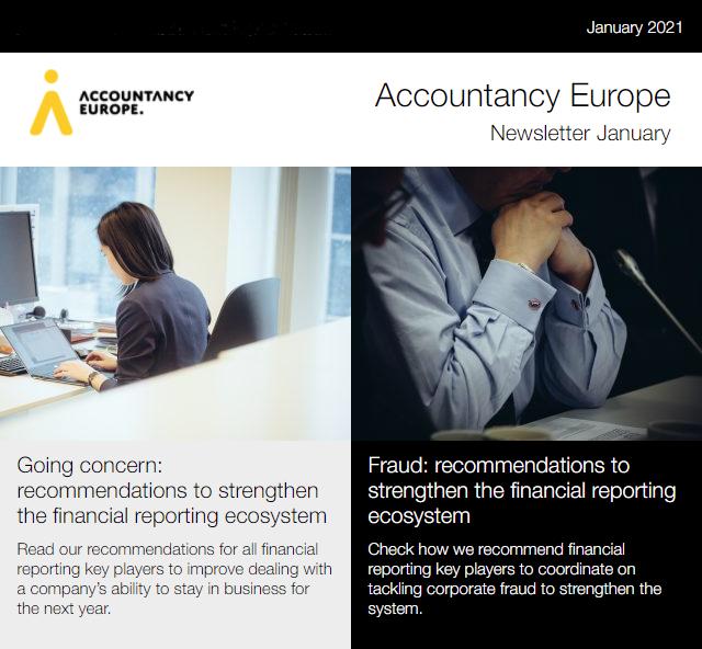 Buletinul de știri Accountancy Europe – martie 2021