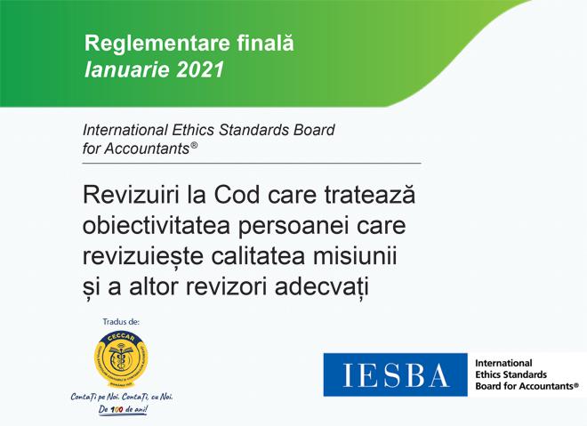 CECCAR a tradus în limba română revizuirile aduse Codului etic în urma publicării standardelor privind managementul calității